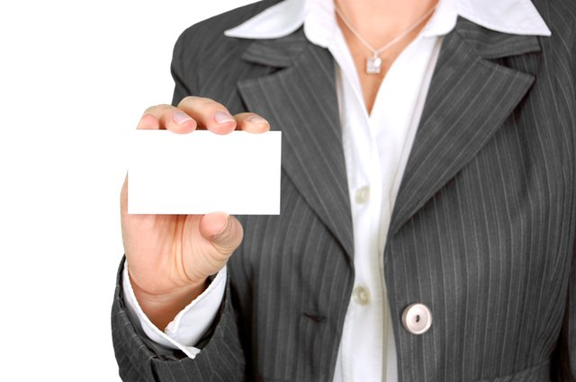 Business Woman Card